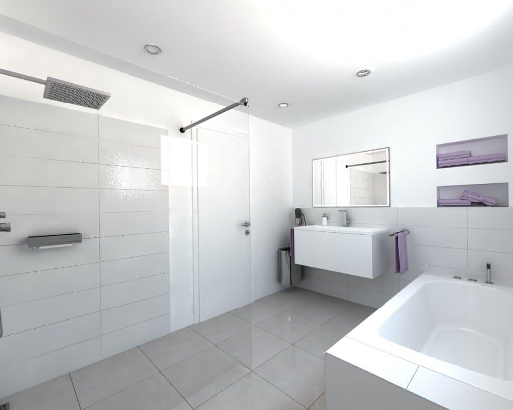 Moderne badezimmer architektur